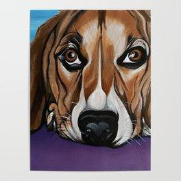 Dog, acrylic on canvas Poster