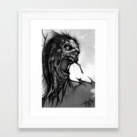 zombie Framed Art Prints featuring Zombie by Tara Grady