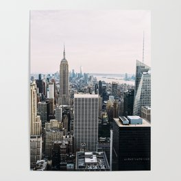 New York skyline from Top of the Rock Poster