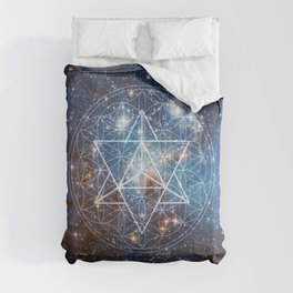 Merkaba in Flower of Life Comforters