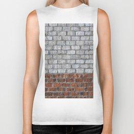 Two Tone Brick Wall Close Biker Tank