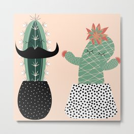 Mr. and Mrs Succulent Metal Print