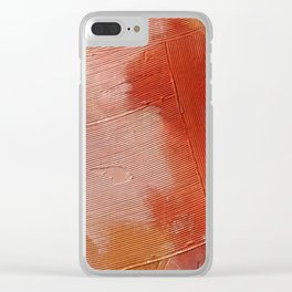 Desert Journey [1]: a textured, abstract piece in pinks, reds, and white by Alyssa Hamilton Art Clear iPhone Case