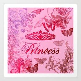 Flutterby Princess Art Print