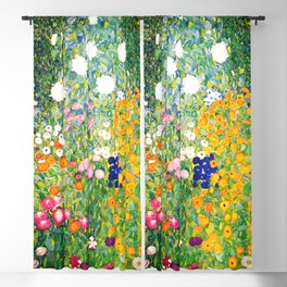 "Gustav Klimt ""Flower garden"" Blackout Curtain"