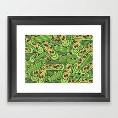 Celery & Peanut Butter Framed Art Print