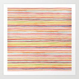 Robayre Watercolor Lines Art Print