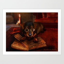 The Book of Dogtalk Art Print