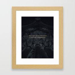 A RESTLESS DISCOMFORT Framed Art Print