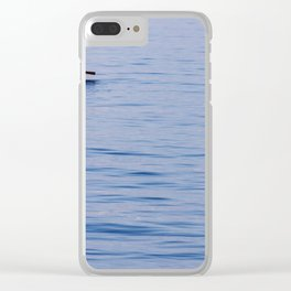 Lonely turkish fisherman on the sea of Izmir Clear iPhone Case