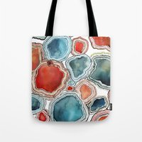 agate Tote Bags featuring AGATE by Kelsey Eckstrom