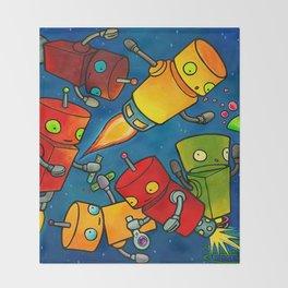 Robot - Robot Party 2 (Zero Gravity) Throw Blanket