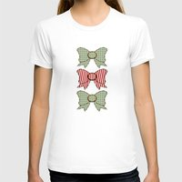 bows T-shirts featuring Red and Blue Bows   by Ambers Illustration