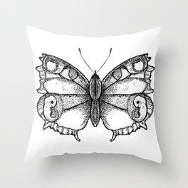 Born as a Butterflie Throw Pillow