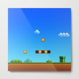 arena game mario Metal Print