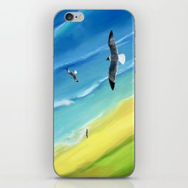 Birds view above sea. iPhone Skin