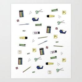Office Supplies Art Print