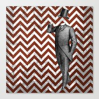 arsenal Canvas Prints featuring Gentleman's Arsenal - The Suit by Ashley Anonymous