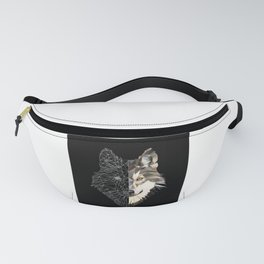 Mixed Wolf Fanny Pack