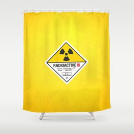 Radioactive sign Back to the future Shower Curtain