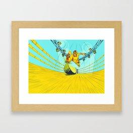 Luchador Lime Framed Art Print