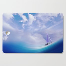 Ship At Sea Cutting Board