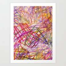 Ilaria Multi Scribble Art Print