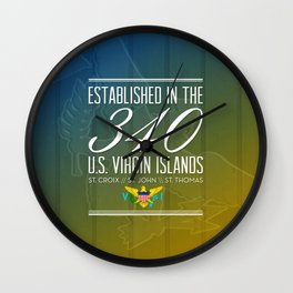 Established in the 340/USVI Wall Clock