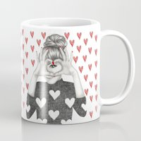 valentine Mugs featuring Valentine by Sara Elan Donati