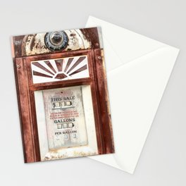 Route 66 Gas Pump Stationery Cards