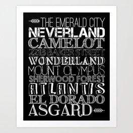 Lands of Imagination Art Print