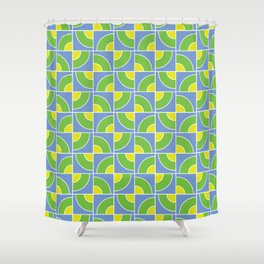 Leon Lime Candy Pattern Shower Curtain