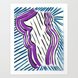 Stricken Silhouette Art Print