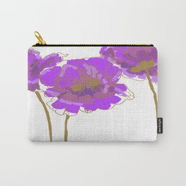 Purple Poppy Carry-All Pouch