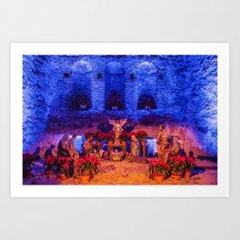 Desktop Wallpapers California USA Christmas Nativi Art Print