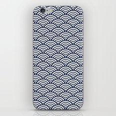 Indigo Navy Blue Wave iPhone Skin