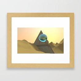 Science Fiction Desert Scene Framed Art Print