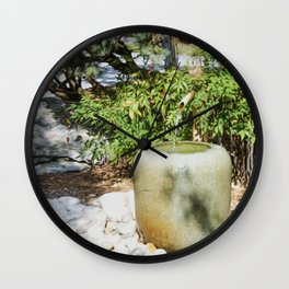 Japanese garden 6 Wall Clock