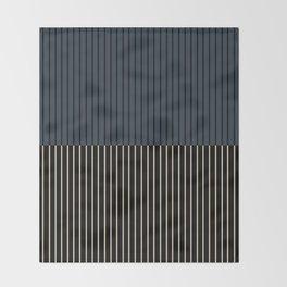 Color Block Lines XVII Throw Blanket