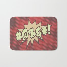 Mild profanity RETRO RED / Cartoonish anger Bath Mat