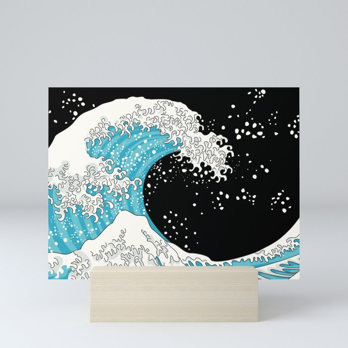 The Great Wave (night version) Mini Art Print