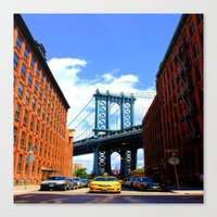 bridge Canvas Prints featuring Bridge by Brown Eyed Lady