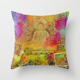 Ethereal Buddha Throw Pillow