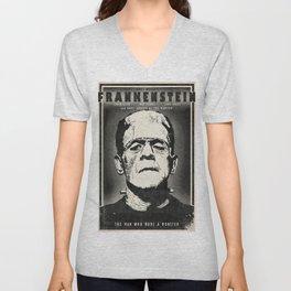 Frankenstein (B&W) Unisex V-Neck