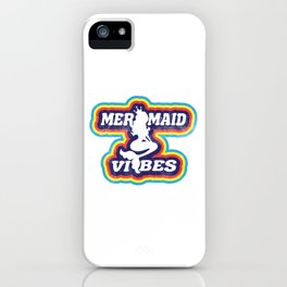 Mermaid Vibe Colorful iPhone Case
