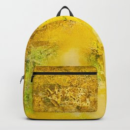 Golden - Abstract Mixed-Media Painting Backpack