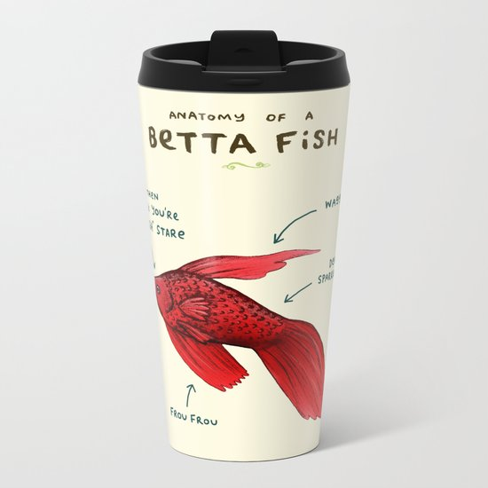 Anatomy of a Betta Fish Metal Travel Mug