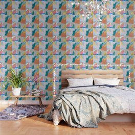 ABSTRACT TROPICAL JUNGLE PATTERN CLASHING Wallpaper