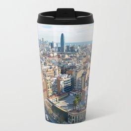 Barcelona From Sagrade Familia Travel Mug