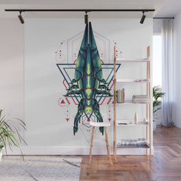 Space Ship sacred geometry Wall Mural